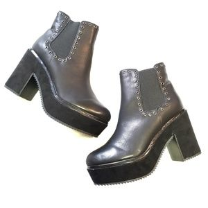 NEW Beston Platform Chelsea Boots
